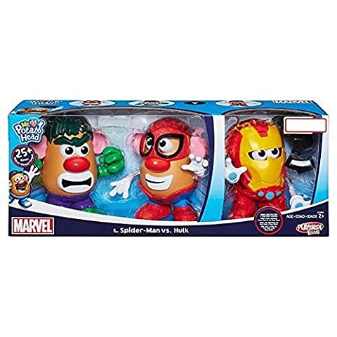 Mr. Potato Head Spider-Man vs Hulk with Bonus Iron Man