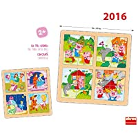 Akros Akros52302 The Three Little Pigs and Cinderella Sequences Puzzle Set (2-Piece)