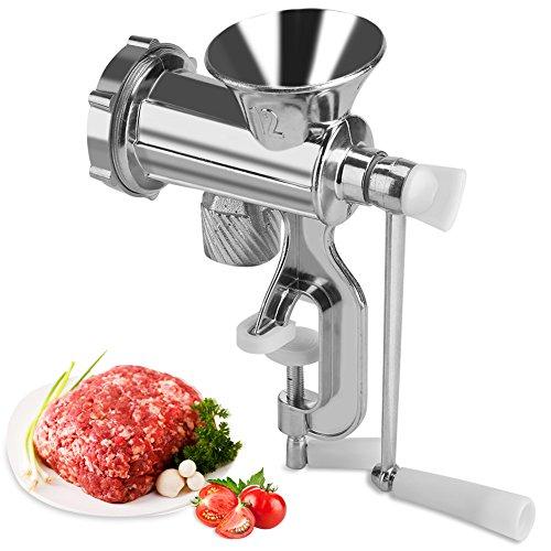 Zerodis Fleischwolf Manuell Handkurbel Wurst Maker Tischklemme Aluminiumlegierung Hause Küche Werkzeug - Fleischwolf Wurst Maker