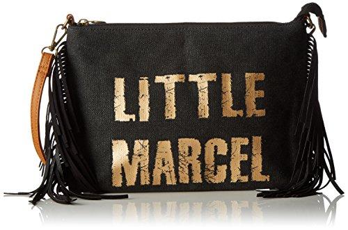 Little Marcel femme Vi05 Sac bandouliere Noir (Black)