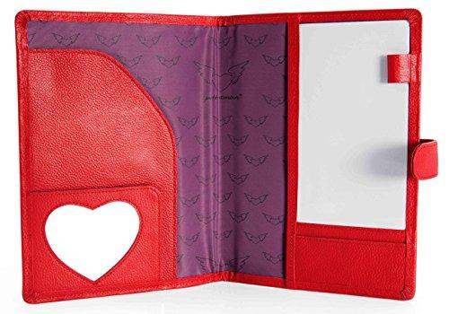 Petit Amour Mutterpass Organizer aus roten Leder