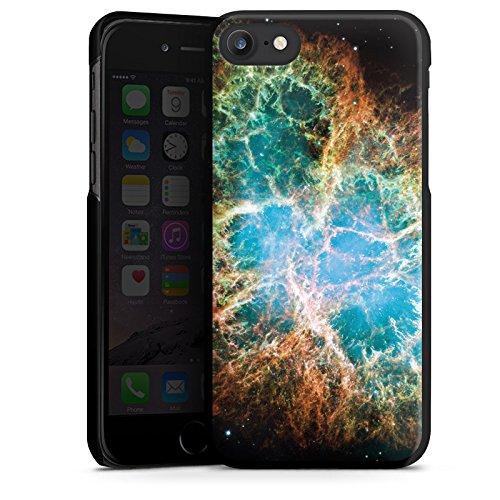 Apple iPhone X Silikon Hülle Case Schutzhülle Galaxy Muster Universum Hard Case schwarz