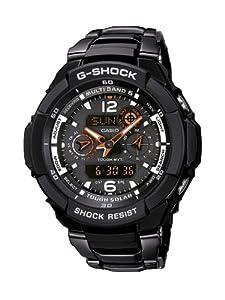 Reloj de caballero CASIO GW3500BD1AER de cuarzo, correa de acero inoxidable color negro de Casio