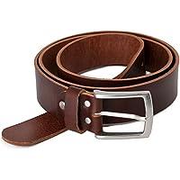 Marrone Cintura 100% pelle di bufalo, 40 mm di larghezza e circa 3-4 mm di spessore, accorciabile, cintura in pelle #Br007-02