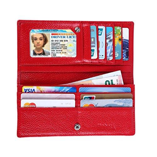 hoobest-rfid-blocking-slim-wallet-women-leather-bifold-clutch-purse
