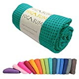 Yogabum klassische Kollektion Anti-Rutsch Yoga-Matte Yoga Handtucher (Emerald Green)