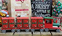 Wooden Train Christmas Advent Calendar With Drawers