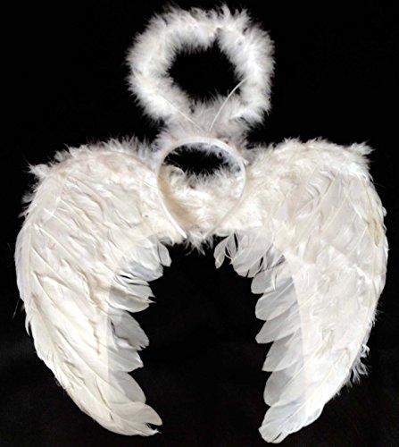 Alle Sorten Weiße Federn Engel Flügel XXXL Maskenkostüm - Engel Kostüm London