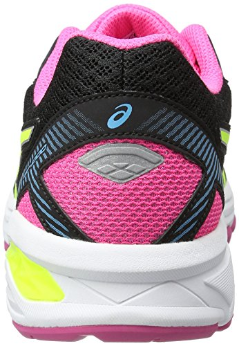 Asics  Gt-1000 5 Gs, Gymnastique  Unisexe - enfant Nero (Black/Safety Yellow/Pink Glow)