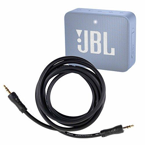 DURAGADGET Câble Audio 2X Prises mâles pour JBL GO 2 (Noir, Gris, Rouge, Champagne, Bleu, Bleu Foncé, Menthe, Vert, Jaune), GO+ (Plus) Enceinte Portable Bluetooth