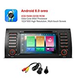 freeauto für BMW E53 E39 X5 M5-7-Zoll Android 8.0 Multi Auto-Stereo-DVD-Player mit Touchscreen-Bildschirm Canbus vergleichbar mit Funktion OBD2 Octa-core 64bit, 4 G, 32 GB ROM mit Rückfahrkamera