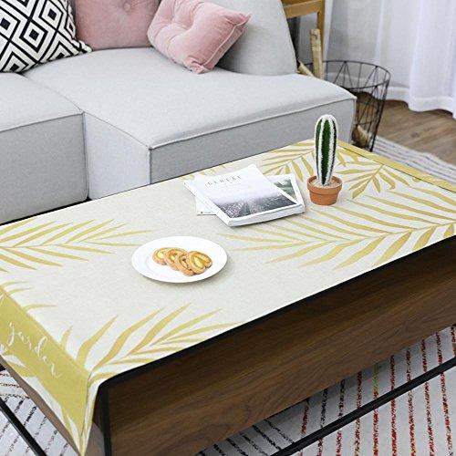 Longless Petite plante fraîche coton pad table basse imprimé imperméables à l'eau des nappes anti-salissures 70*160cm