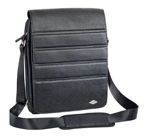 Wedo 596101 GoFashion Pro Crossover-Tasche Hochformat (mit Spezialfach für Tablet PCs) schwarz