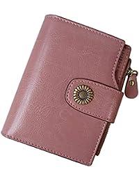af88f2a243 TEUEN Portafoglio Donna in Pelle Vera con Portamonete Anti RFID Portafogli  Donna Piccolo Sottile con Cerniera