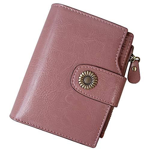 44e51c7872 TEUEN Portafoglio Donna in Pelle Vera con Portamonete Anti RFID Portafogli  Donna Piccolo Sottile con Cerniera