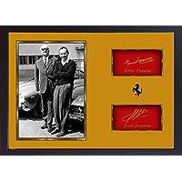 John Surtees Enzo Ferrari F1GP SIGNED Autograph Fanartikel, gerahmt