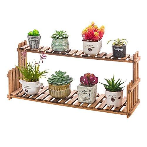 Brisk-Racks de fleurs- Solide Bois Fleur Stand Salon Balcon Sol Pot Pot Intérieur Simple Plante Étagère ( taille : 50*22cm )