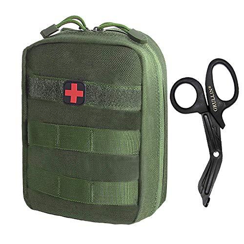 GRULLIN Taktischer Molle Erste Hilfe Tasche Leer Rip Away IFAK EMT Medizinische Pouch Klein Tasche für Reisen Camping Wandern Outdoor - Tourniquet Erste Hilfe