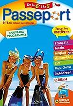 Passeport Cahier de Vacances 2019 - Toutes les matières de la 6e à la 5e d'Isabelle de Lisle