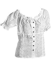e952d00d6c18 Trachten Bluse Weiß,Hüftlang,Trachten-Mode,Damen Blusen,Baumwolle Gr.