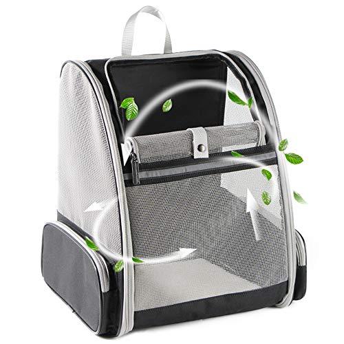 Texsens Haustier Rucksack Tragetasche Katze Transporttasche Faltbare Transportbox Atmungsaktiv Hunde Reise Tragbare Tasche Hundebox für Hunde Katzen