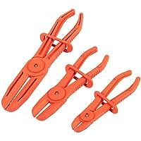 3 alicates de manguera – alicates de pinza – abrazaderas de línea para mangueras de freno, mangueras de combustible, líneas de gas, mangueras de refrigerante, mangueras de radiador, mangueras más flexibles, color rojo