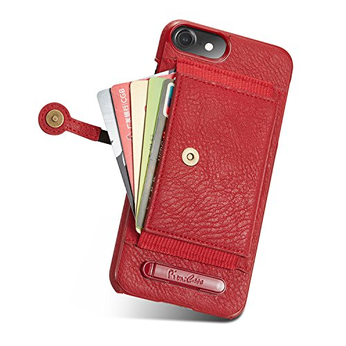 Case per iPhone 6 Card ,Cover per iPhone 6, Bonice Vintage Synthetic Leather Wallet Ultra Slim Professional Executive Snap On Cover with 2 Card Holder Slots Case Cover per iPhone 6/6S (4.7 pollici) +  Modello 12