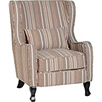 Seconique Sherborne Fireside Chair   Beige Striped Fabric
