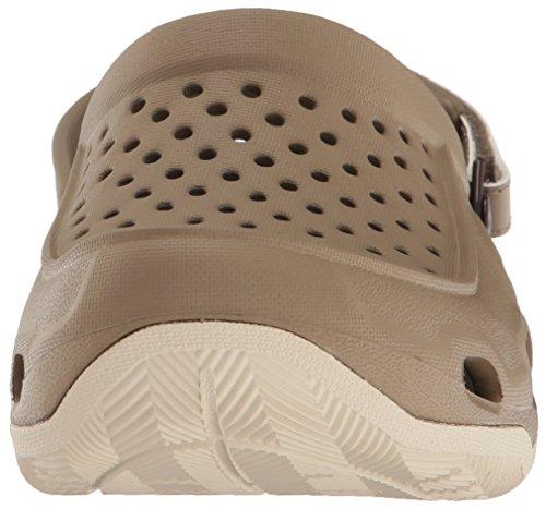 Crocs Herren Swiftwater Deck Clog Men Braun (kaki / Stucco)