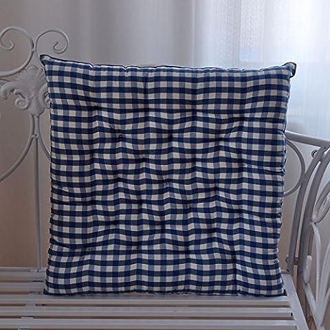 Kissen, Stuhl, Bürostuhl Kissen, verdickt, Baumwolle, Plaid, gestreifte Sitzkissen, 45 x 45 cm, (Blaue Gestreifte Kissen)