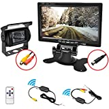 "Wireless Backup Camera 7"" TFT LCD Rearview Monitor Waterproof Reverse Reversing Camera IR Night Vision for /Bus/ Truck /Excavator"