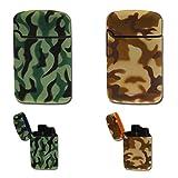 Easy Torch 8 Camouflage Sturmfeuerzeug in 2 Tarnfarben - , Farbe Easy Torch Camouflage:Grün / Schwarz