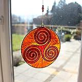 Fensterdeko Weg des Lebens orange