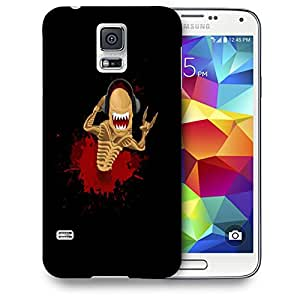 Snoogg Music Lover Monster Designer Protective Back Case Cover For SAMSUNG GALAXY S5
