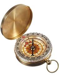 Brujula Compass Estilo Vintage Extraible para Senderismo Travesia Camping 2778