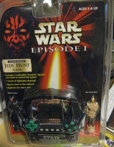 STAR WARS EPISODE I ELECTRONIC HANDHELD JEDI HUNT GAME w/ 2 COLLECTIBLE FIGURES by Tiger (Wars-handheld-spiel Star)