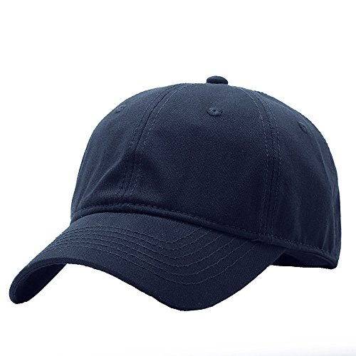 CAP HUO Männer Ms 100% Baumwolle Klassische Golf Caps Baseball Unisex, Langlebig Einstellbar (4 Farben 2 Größen 54-65 cm) (Farbe : Marine, größe : 59-65cm) - Klassisches Golf Cap