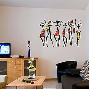 ... Decals Design U0027African Dancing Womenu0027 Wall Sticker (PVC Vinyl, 50 Cm X  70 Cm)