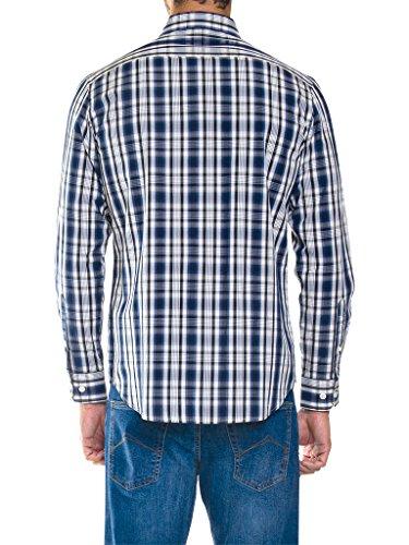 Carrera Jeans - Hemd 213B1230A für mann, garn gefärbt, regular fit, langarm G10 - Garn Gefärbt Überprüft Fancy Blau-Beige-Weiß