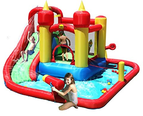 Jump And Splash Funland Bouncer 14FT Bouncy Castle With Water Slide