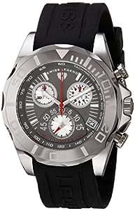 Swiss Legend–18010–014–Montre de Poignet pour homme, bracelet en silicone noir