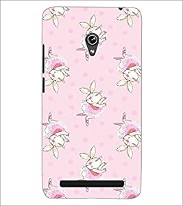 PrintDhaba Bunny pattern D-2091 Back Case Cover for ASUS ZENFONE 6 A601CG (Multi-Coloured)