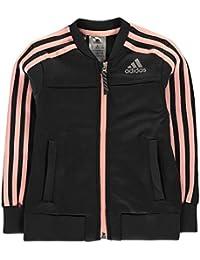 Adidas Polyester Cover Up, Giacca Bambina, Carbon/Haze Coral/Reflective Silver, 104