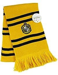 HARRY POTTER SCARF OFICIAL Casa de Hufflepuff Hogwarts School of Magic - Licencia ORIGINAL WARNER BROS