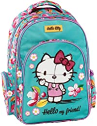 Graffiti Hello Kitty Mochila Escolar, 44 cm, Verde (Mint)