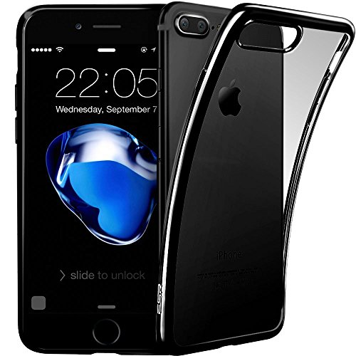 AVIDET Premium TPU Souple Etui de Protection [Ultra mince] [Poids léger] [Anti-rayures] pour iPhone 7 (Transparent) Gris