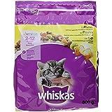 Whiskas Katzenfutter Trockenfutter Adult mit Huhn, 800 g