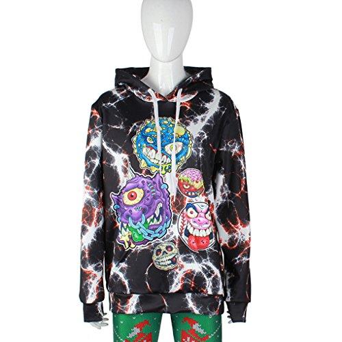 Belsen Damen Kapuzenpullover mehrfarbig mehrfarbig Disgusting ghosts