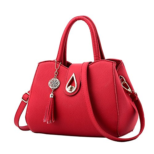 SHUhua, Borsa a zainetto donna Wine Red