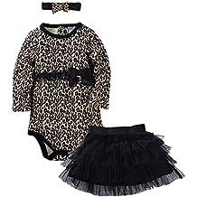 ZOEREA 3pcs neonato bambina ragazze cappello hairband+gonna+pagliaccetto vestiti attrezzatura del